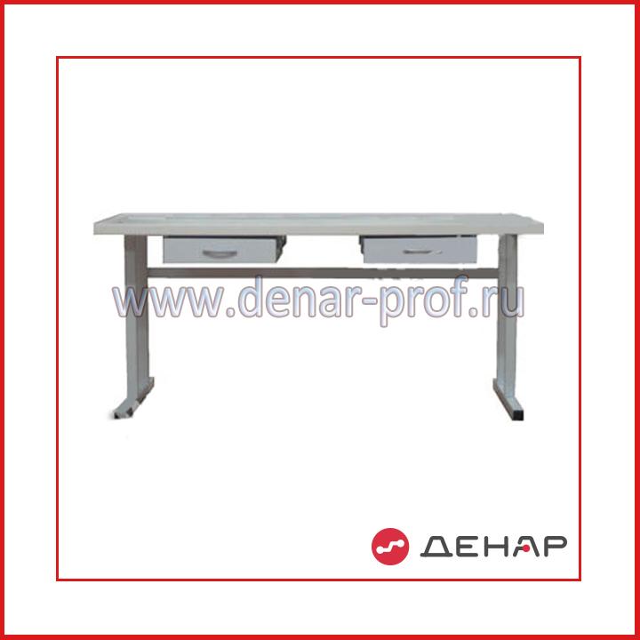 Двухместный стол электромонтажника с подвесными ящиками