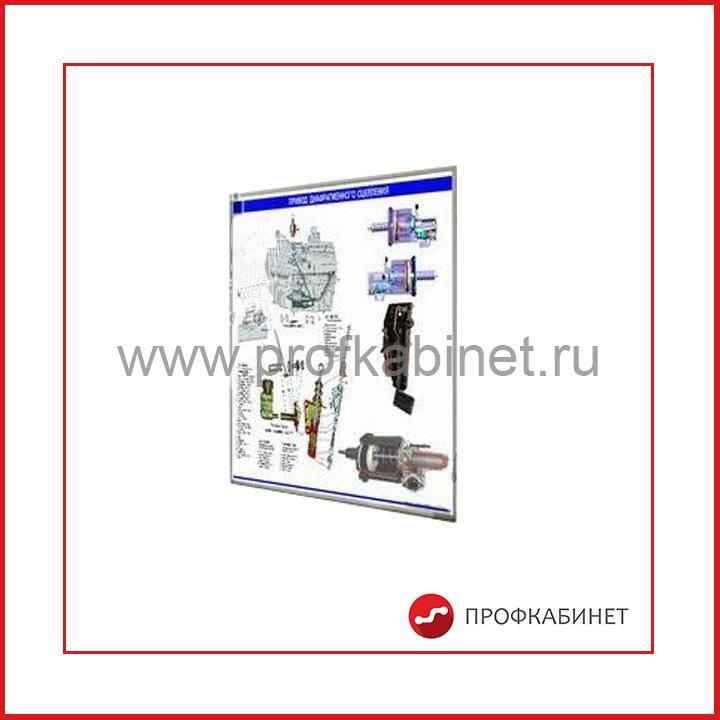 Стенд-планшет «Привод управления диафрагменным сцеплением КАМАЗ»