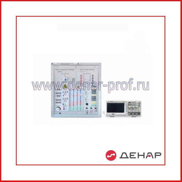 Типовой комплект учебного оборудования  «Основа электронных систем на базе микроконтроллера», 1-секционный с аналоговым осциллографом настольное исполнение ОЭСБМ-1-Н-АО