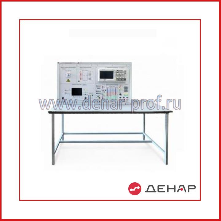 Типовой комплект учебного оборудования  «Основа электронных систем на базе микроконтроллера», 2-х секционный стационарное исполнение со столом ОЭСБМ-2-С