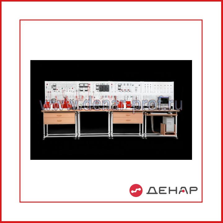 Модель одномашинной электрической системы с узлом комплексной нагрузки и релейной защитой ЭЭ1-НЗ-С-К
