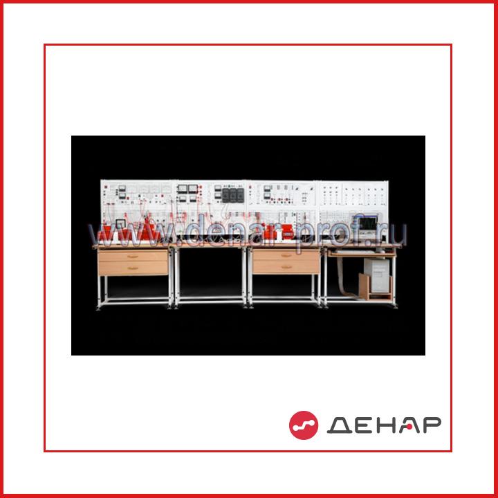 Модель одномашинной электрической системы с узлом комплексной нагрузки, релейной защитой, автоматикой и измерителем параметров и показателей качества электроэнергии ЭЭ1-НЗАК-С-К
