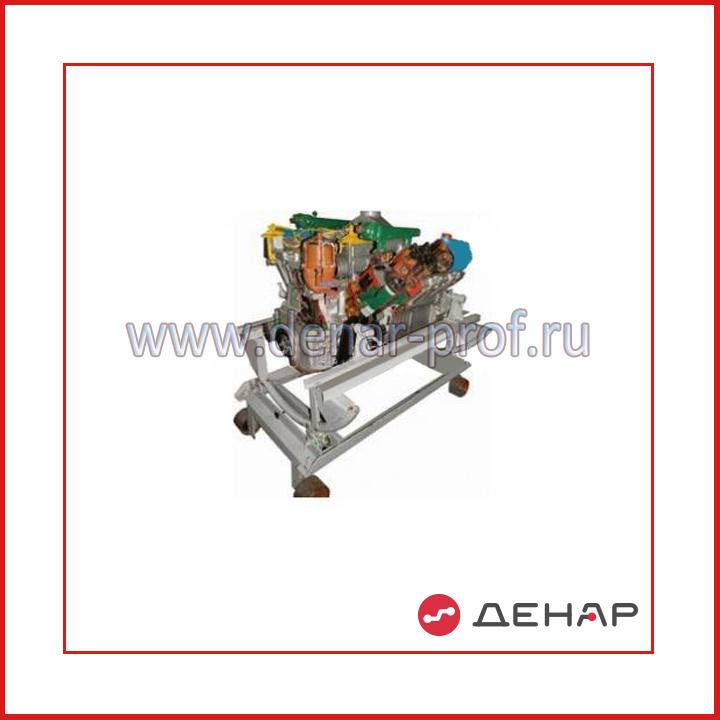 02.06.03.4 Двигатель ЯМЗ (агрегаты в разрезе)