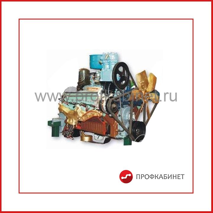 02.06.04.2 Двигатель грузового автомобиля ЗИЛ (агрегаты в разрезе) с электромеханическим приводом