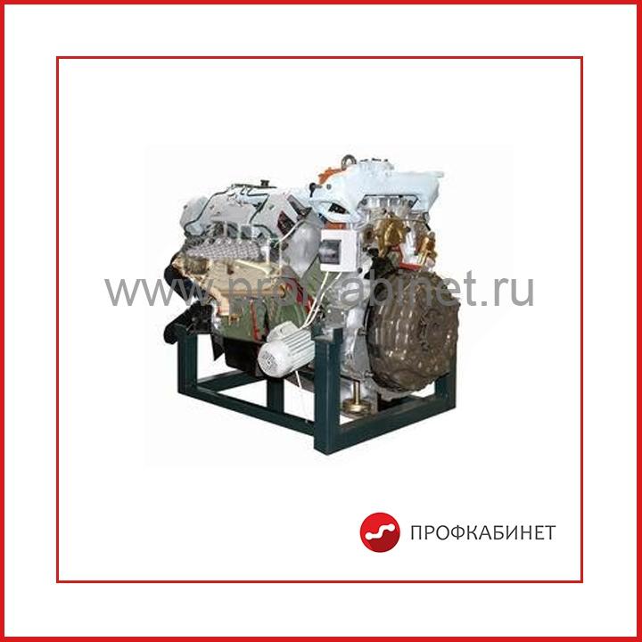 Двигатель грузового автомобиля КАМАЗ (агрегаты в разрезе) с электромеханическим приводом