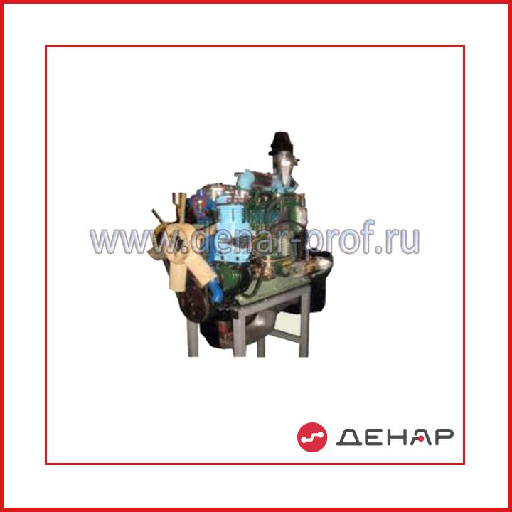 Двигатель дизельный трактора МТЗ 80 - 82 с навесным оборудованием (агрегаты в разрезе) с электромеханическим приводом
